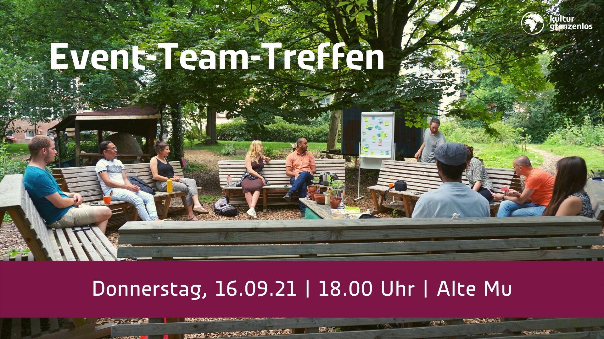 Event-Team-Treffen am 16.09. um 18 Uhr