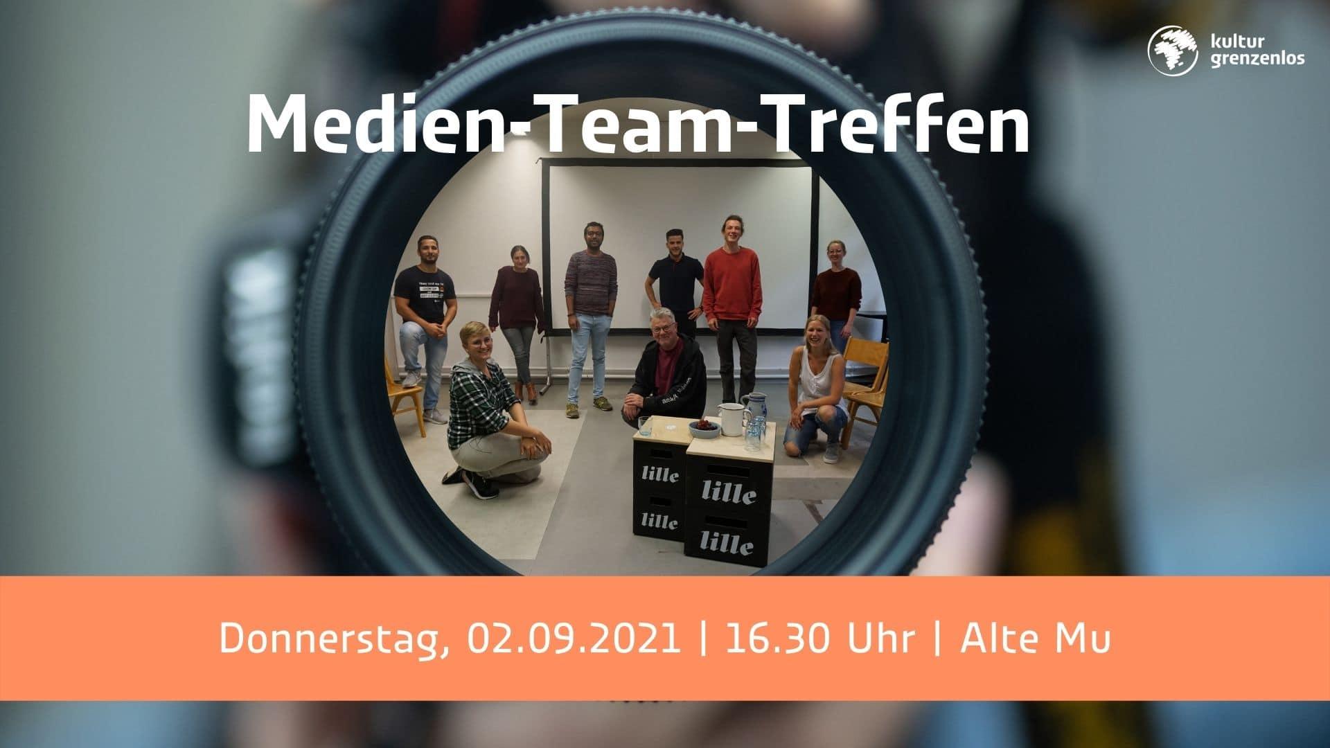 Das Medien-Team-Treffen ist am 02.09.21