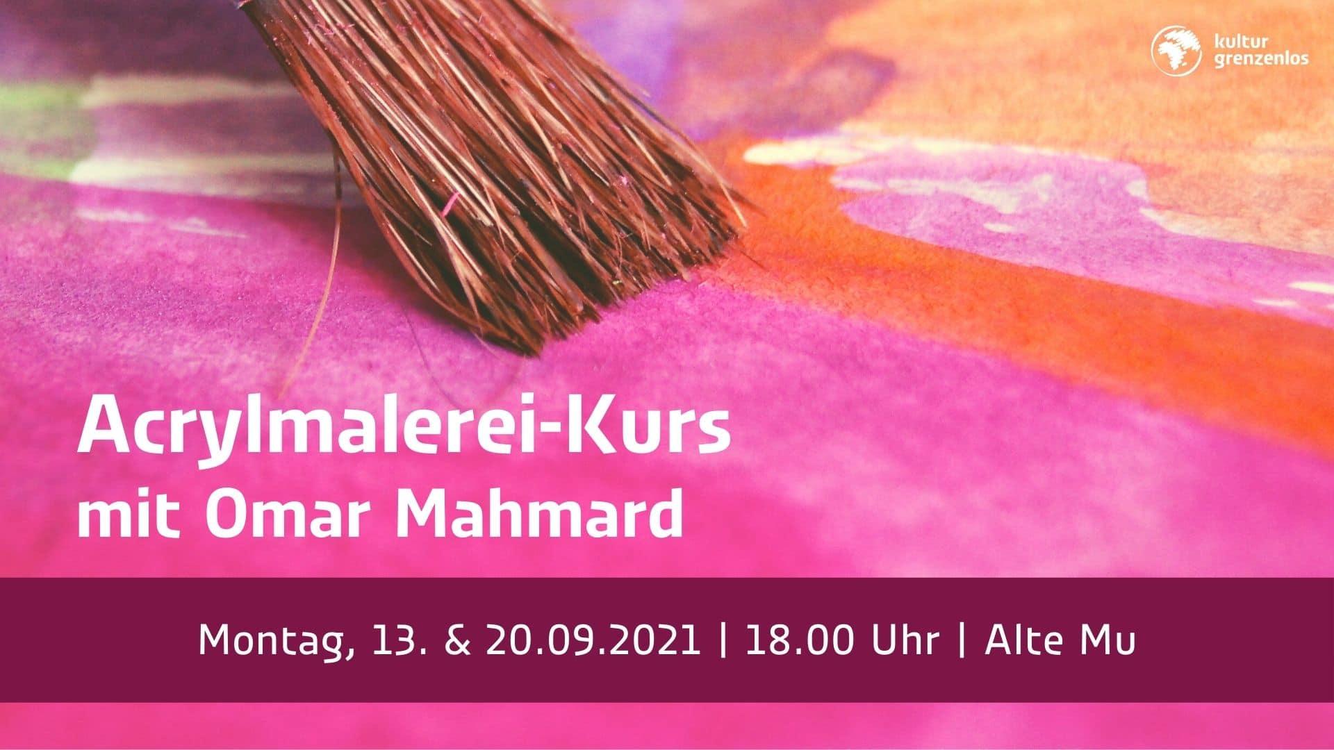 Acrylmalerei-Kurs am 13. und 20.09.21