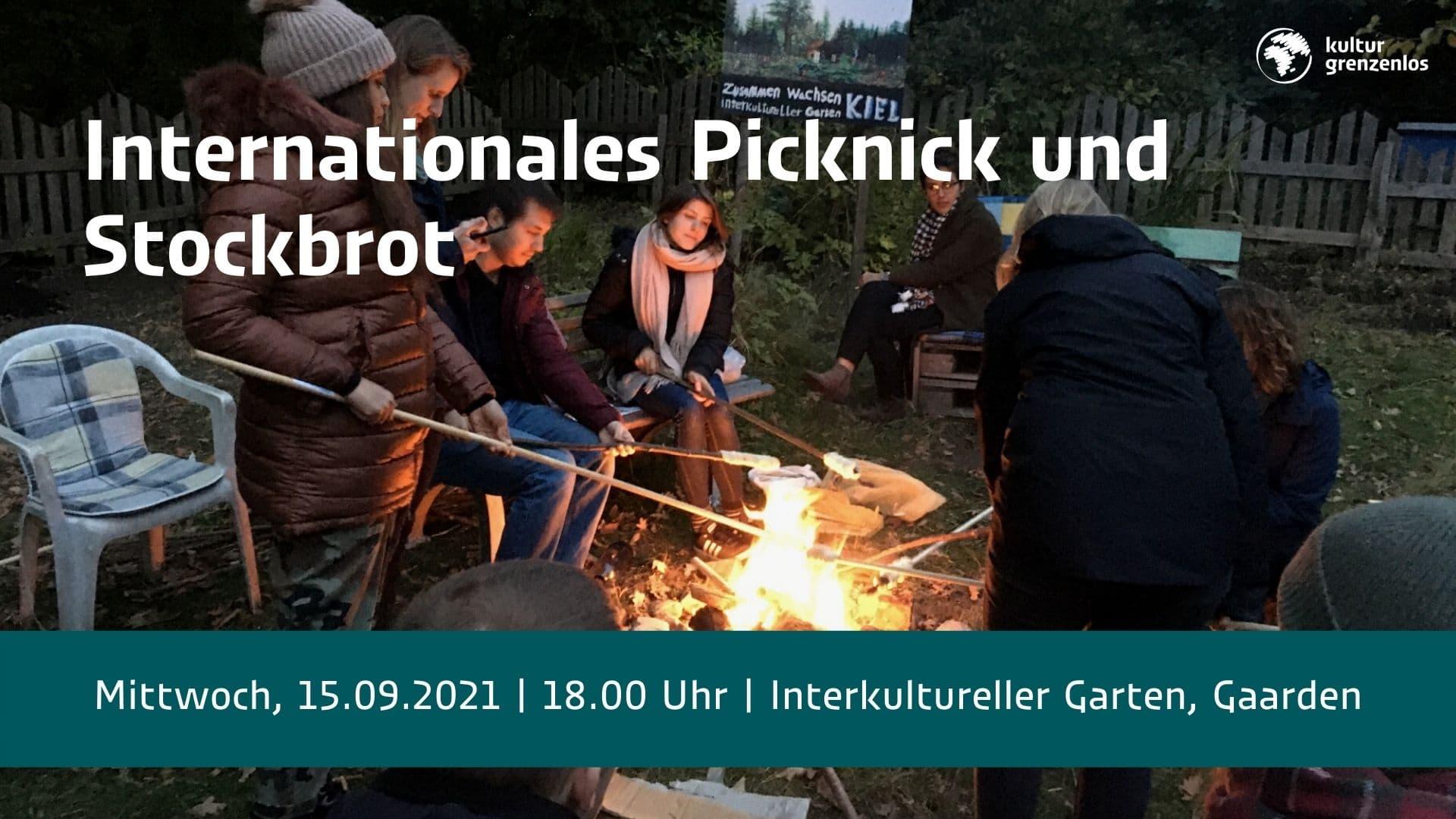 Picknick mit Stockbrot im Interkulturellen Garten